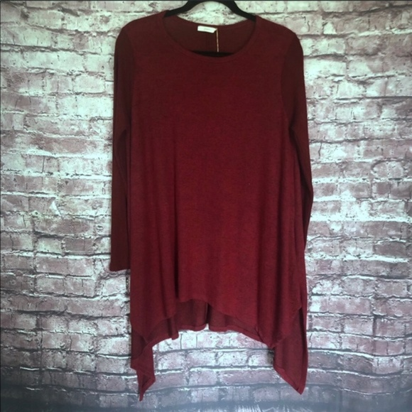 JODIFL Tops - Jodifl sweater tunic drape top small